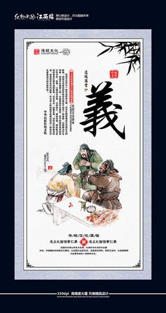 中國風道德講堂展板之義