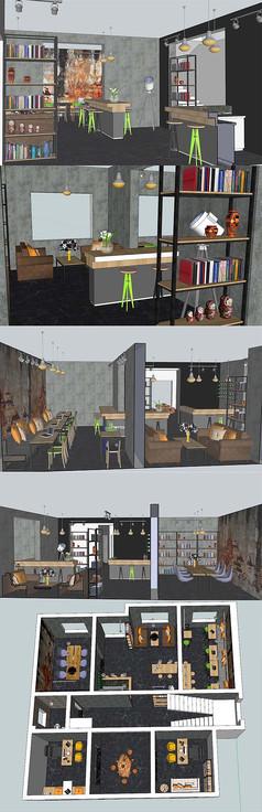 办公空间设计SU模型