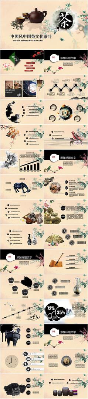 中国茶文化茶叶PPT模板