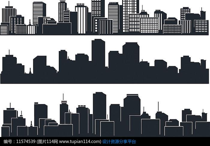 城市建筑剪影设计素材免费下载_城市风景其他_图片114