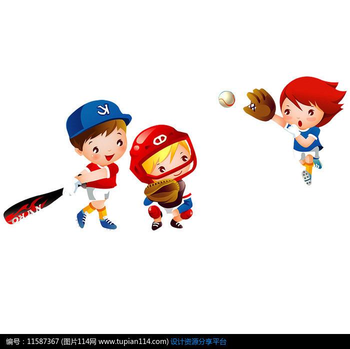 打棒球卡通人物