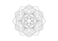 欧式风格六角组合图形雕刻纹样