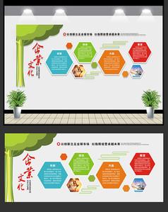 企业文化宣传展板图