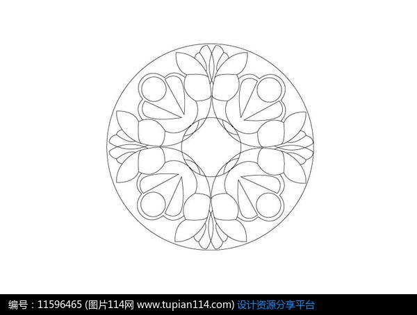 [原创] 半圆形花瓣组合雕刻纹样