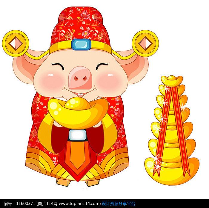 猪年春节素材搞笑动漫的胖子图片图片