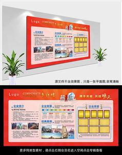红色企业发展历程宣传栏设计