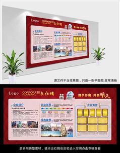 高档企业宣传栏展板创意设计