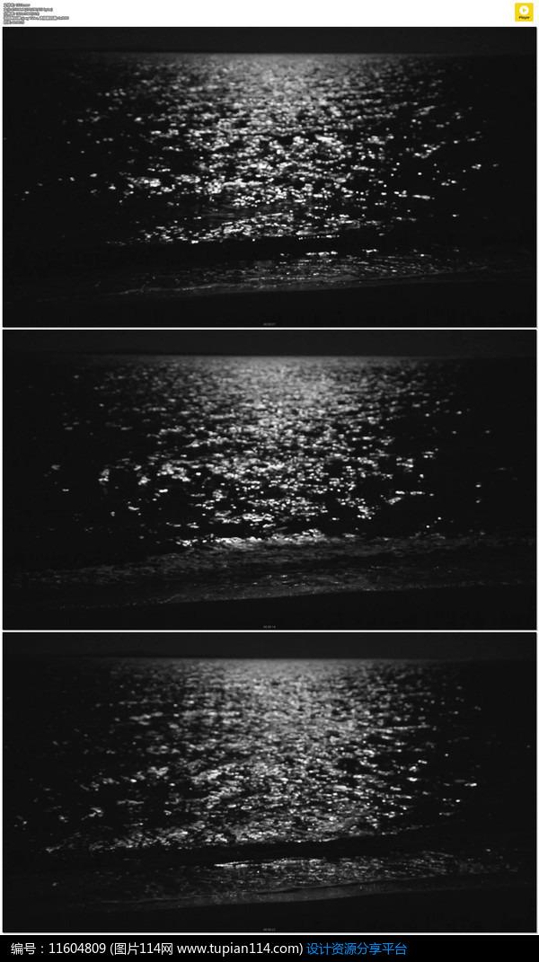 [原创] 夜晚黑色海水实拍视频素材
