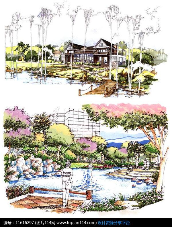[原创] 别墅庭院水景设计
