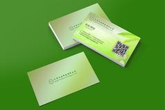 绿色农业环保公司名片设计