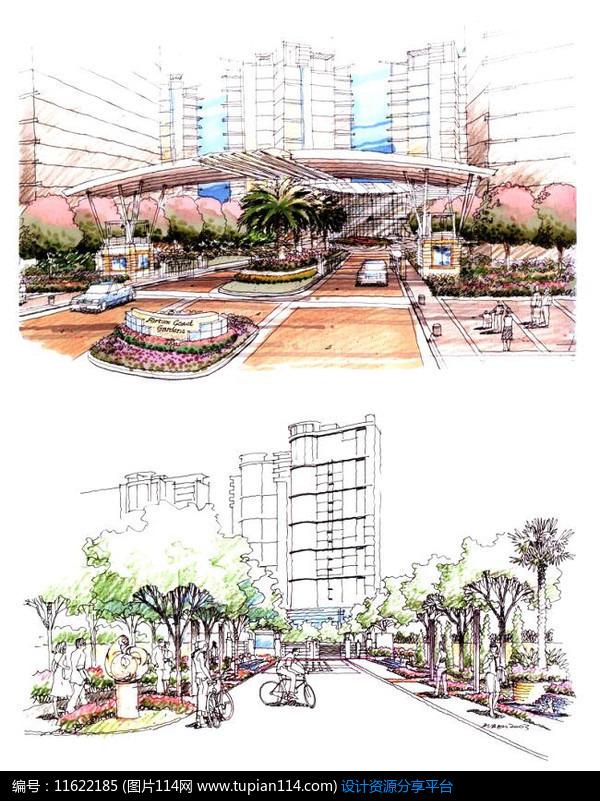 广场花坛设计手绘图_简单花坛设计手绘图