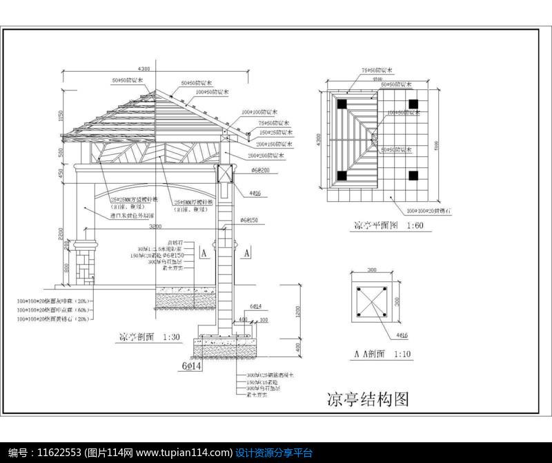 凉亭结构图
