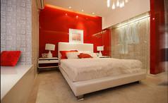 现代简约光滑感卧室