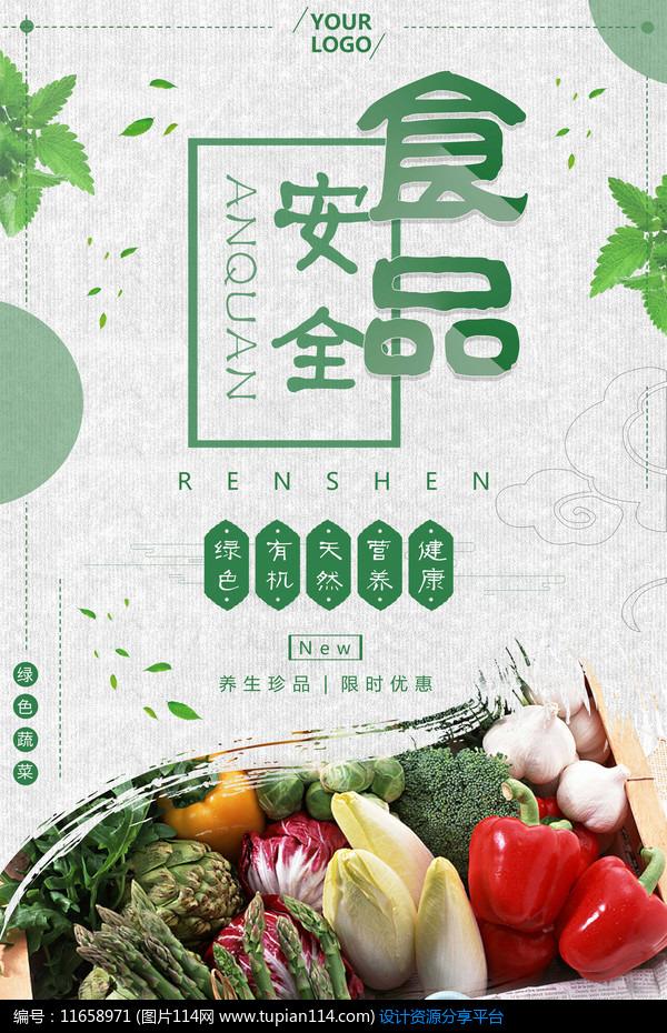 [原创] 绿色健康安全食品宣传海报