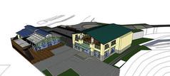 观光工厂建模模型
