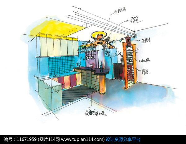 [原创] 厨房手绘效果图