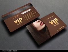 性感简约美发会员卡设计素材