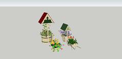 花架盆景木头素材