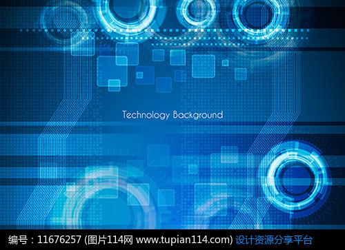 [原创] 蓝色电路板科技背景图片
