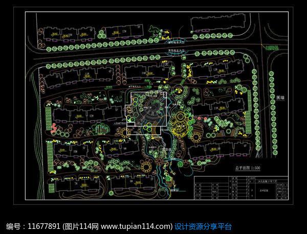 [原创] 地产建筑设计绿化图纸