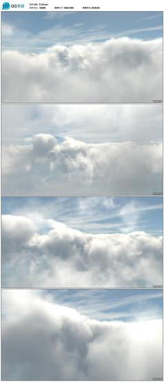 天空云层穿梭视频素材