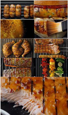 顶级烧烤美食广告视频素材