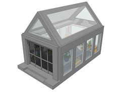 玻璃温室花房SU模型