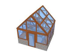 小玻璃温室SU