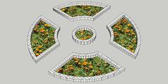 花园花圃模型