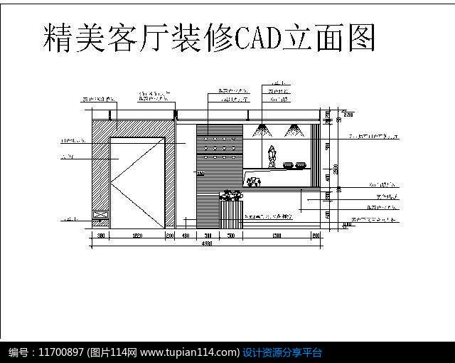 精美客厅装修CAD立面图cadmld有什么区别图片
