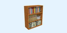 简易黄色矮书柜