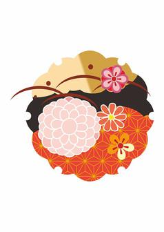 日系传统T恤卫衣印花图案
