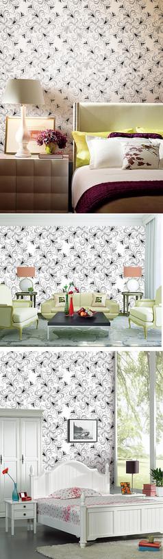 欧式客厅卧室壁纸墙纸设计