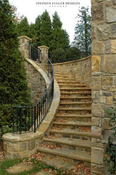 欧式别墅室外楼梯栏杆