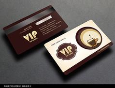 时尚咖啡会员卡设计模板