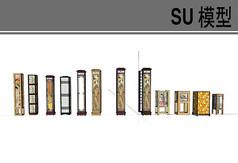 日式古典长方形灯具