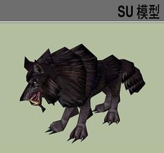 3D动物狼SU模型