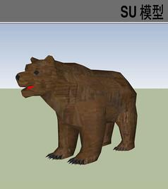 3D动物熊SU模型