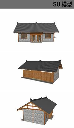 仿古室外公厕模型