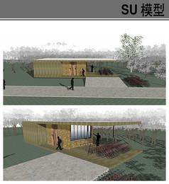 户外自行车驿站厕所模型