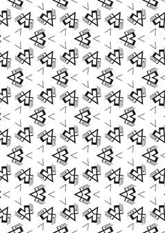 时尚几何图形面料印花底纹图片