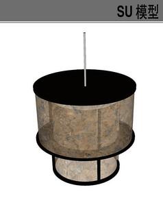 圆形吊灯SU模型