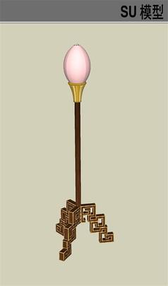 中式古典传统灯具模型