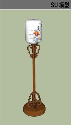 中式古典立灯SU