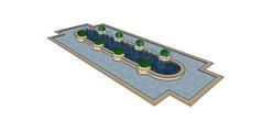 住宅区景观水池