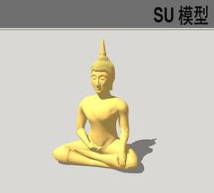 金佛SU模型
