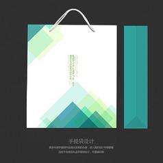 蓝色小清新森系礼品包装手提袋
