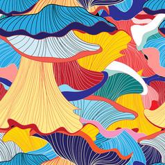艺术装饰画高清素材印花底纹矢量