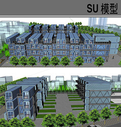 蓝色集装箱改造单身房