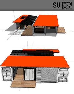 集装箱改造现代建筑